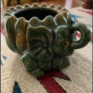 Vintage Small Elephant Succulent Planter Pot